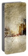 skyline of Detroit in modern and abstract vintage-look Portable Battery Charger