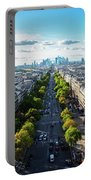 Skyline Of Paris, France Portable Battery Charger
