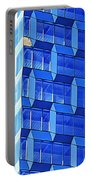 Skyscraper Blue Portable Battery Charger
