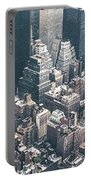 Skyscrapers View From Above Building 83641 3840x1200 Portable Battery Charger