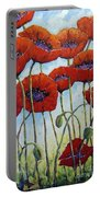 Skyward Poppies Portable Battery Charger