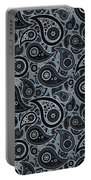 Slate Gray Paisley Design Portable Battery Charger