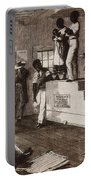 Slave Auction In Virginia Portable Battery Charger by Photo Researchers