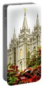 Slc Temple Angle Portable Battery Charger by La Rae  Roberts
