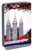 Slc Temple Red And White Portable Battery Charger