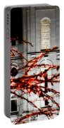 Slc Temple Red White N Black Portable Battery Charger by La Rae  Roberts