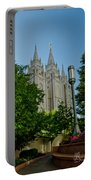 Slc Temple Walk Portable Battery Charger by La Rae  Roberts