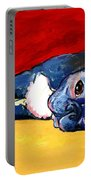 Sleepy Boston Terrier Dog  Portable Battery Charger