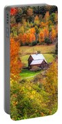 Sleepy Hollow Farm In Fall Portable Battery Charger