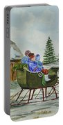 Sleigh Ride Portable Battery Charger by Charlotte Blanchard