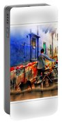 Slice Of Life Milkman Blue City Houses India Rajasthan 1a Portable Battery Charger