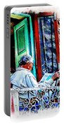 Slice Of Life Sunny Sunday Morning Newspaper India Rajasthan Udaipur 2a Portable Battery Charger