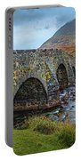 Sligachan Bridge View #h4 Portable Battery Charger by Leif Sohlman