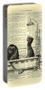 Sloth, Funny Children's Art, Bathroom Decor Portable Battery Charger