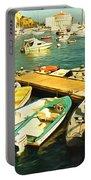 Small Boat Dock Catalina Island California Portable Battery Charger
