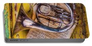 Small French Horn Portable Battery Charger