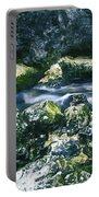 Small Freshwater Spring Under Rocks Portable Battery Charger