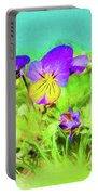 Small Group Of Violets Portable Battery Charger