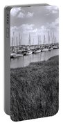 Small Sailboat Harbor Monochrome  Portable Battery Charger