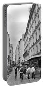 Small Street In Paris Portable Battery Charger