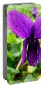 Small Violet Flower Portable Battery Charger