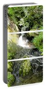 Small Waterfall Smoky Mountains Triptych Portable Battery Charger
