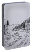 Smelter Ruins Glendale Ghost Town Montana Portable Battery Charger