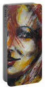 Smile - Portrait Of A Woman Portable Battery Charger