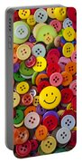Smiley Face Button Portable Battery Charger