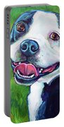 Smiling Boston Terrier Portable Battery Charger