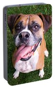 Smiling Boxer Dog Portable Battery Charger