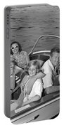 Smiling Family In Docked Boat, C.1960s Portable Battery Charger