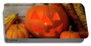 Smiling Jack O Latern Portable Battery Charger
