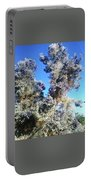 Smoke Tree In Bloom With Blue Purple Flowers Portable Battery Charger