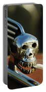 Smoking Skull Hood Ornament Portable Battery Charger