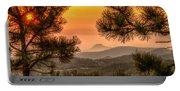 Smoky Black Hills Sunrise Portable Battery Charger