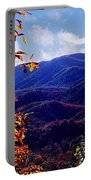 Smoky Mountain Autumn View Portable Battery Charger