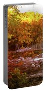 Smoky Mountain Suspension Bridge Oil Painting Portable Battery Charger