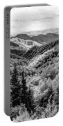 Smoky Mountains In Black And White Portable Battery Charger