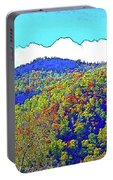 Smoky Mountains Scenery 6 With Sunny Day Filter Portable Battery Charger