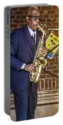 Smooth Sax Man Portable Battery Charger