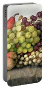 Snail With Grapes And Pears Portable Battery Charger