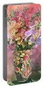Snapdragons In Snapdragon Vase Portable Battery Charger