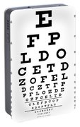 Snellen Chart - 9 Character Portable Battery Charger
