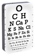Snellen Chart - Chemical Abundance In Human Body Portable Battery Charger