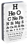 Snellen Chart - Chemical Abundance In Universe Portable Battery Charger