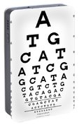 Snellen Chart - Genetic Sequence Portable Battery Charger
