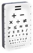 Snellen Chart - Mathematical Symbols Portable Battery Charger