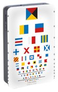 Snellen Chart - Nautical Flags Portable Battery Charger