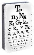 Snellen Chart - Physical Constants Portable Battery Charger